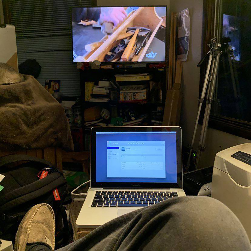 """Watching DIY, updating the MacBook Pro to SSD, doing taxes, waitin for the snow to hit and generally chillaxin."""" - Carl Hansen"""