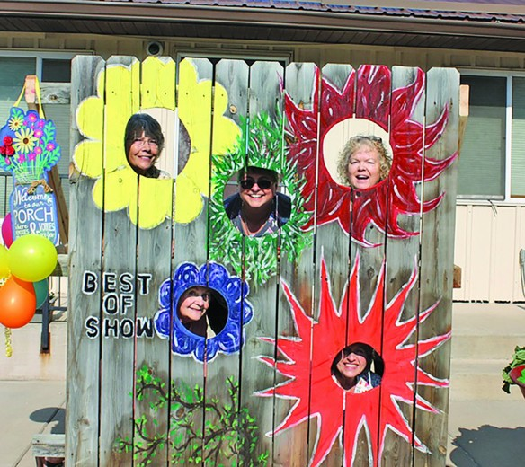 """Hill City Mayor Kathy Skorzewsi, center, was joined by members of the Hill City Evergreen Garden Club for a photo that determined they were all """"Best of Show."""" This year's garden club flower show was last Saturday at the Boys and Girls Club of the Black Hills."""