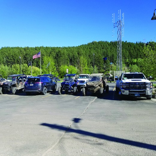 The use of the Custer County Courthouse parking lot by neighboring Adventure Rentals was discussed at the most recent meeting of the Custer County Commission, as some within the county question the business' use of the parking lot for its UTVs, which they say limits the parking available to county employees and those doing business at the courthouse.